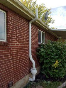 radon mitigation system outside